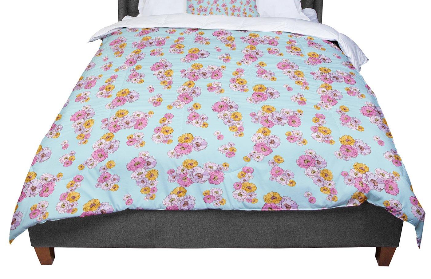 104 X 88 Cal King Comforter KESS InHouse Laura Escalante Paper Flower King
