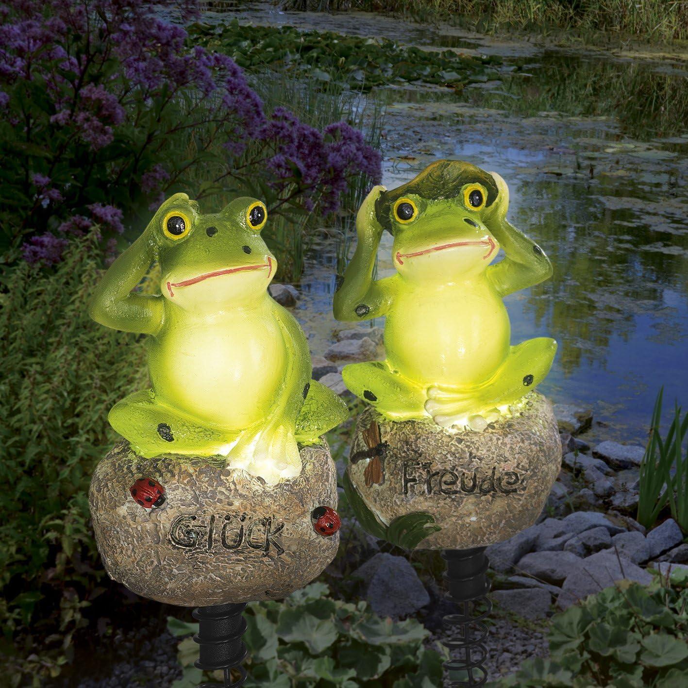 Solaire de LED grenouille 2/pi/èces 1,2/V Vert vif Belle /& d/écoratif |f/ür Jardin, terrasse etc.