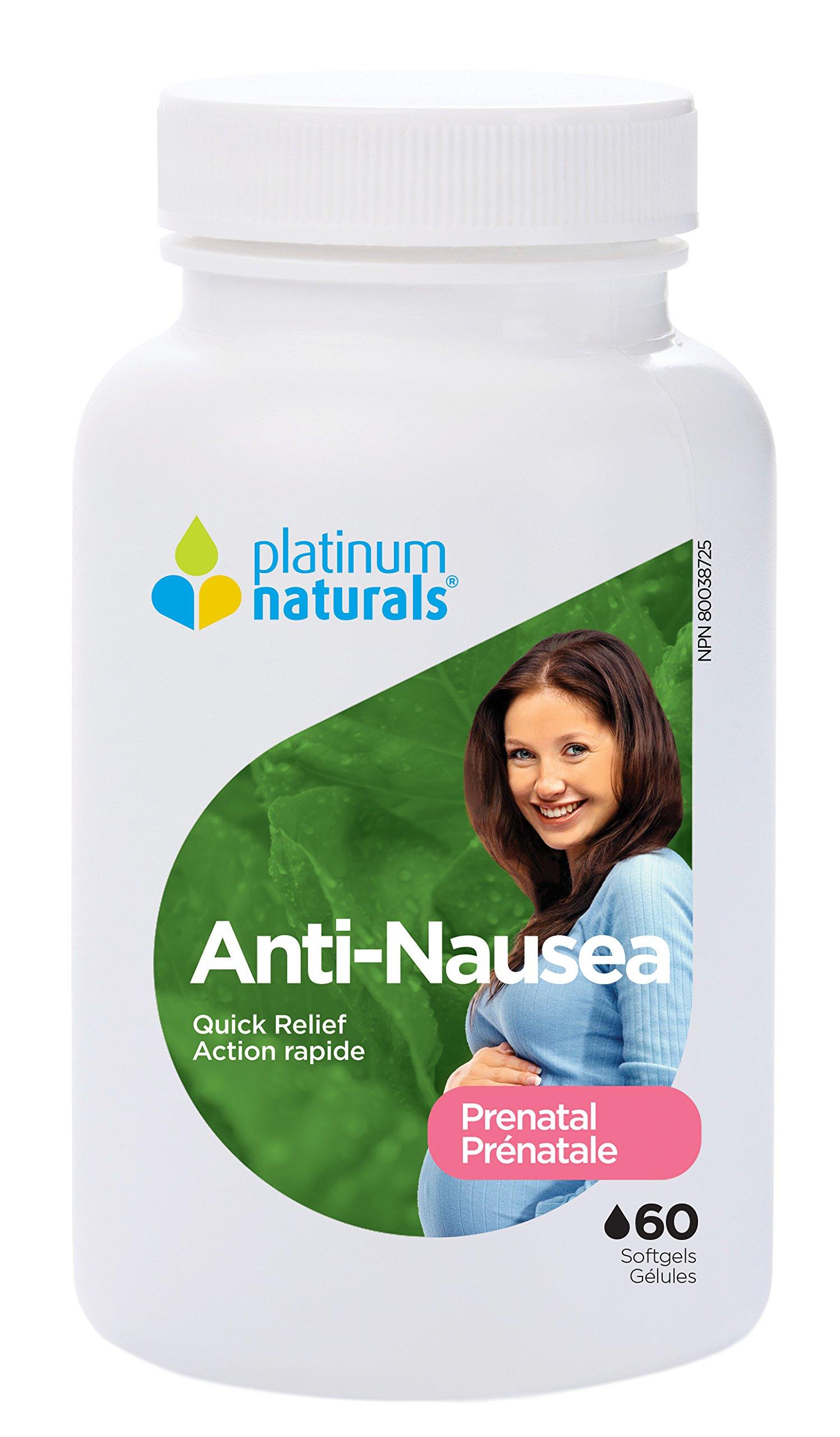 Platinum Naturals Prenatal Anti-Nausea, 60 Softgels