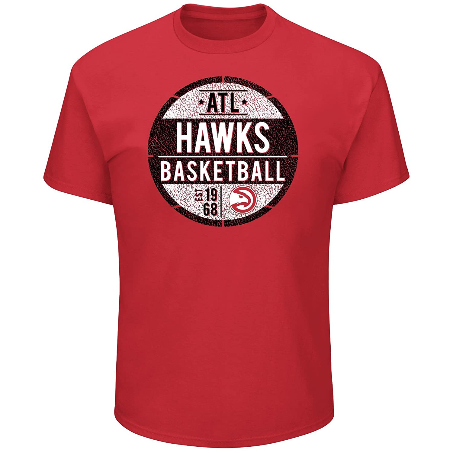 NBA Atlanta Hawks Short Sleeve Screen Tee 3X//Tall Red