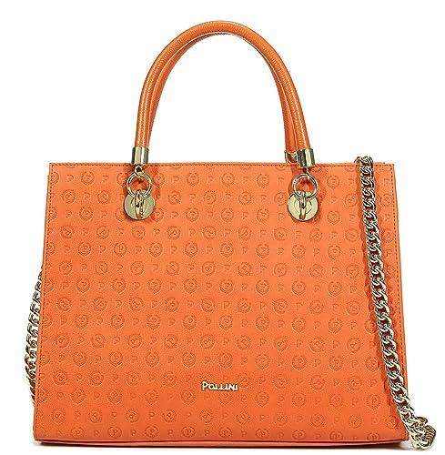 754a7b5ff Pollini Borsa Donna tapiro Embossed e Vitello aranci Arancio  TE8406PP02Q2140A: Amazon.it: Scarpe e borse