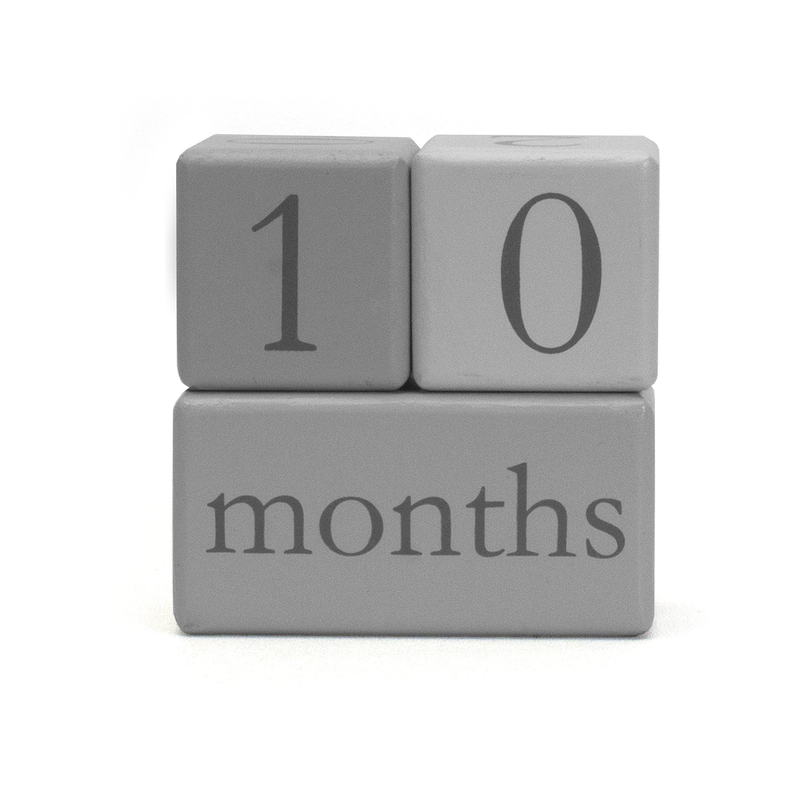 Child to Cherish Baby Monthly Milestone Photo Age Blocks, Grey