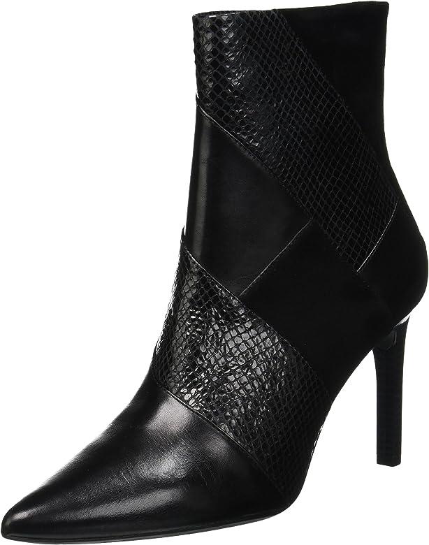 pulcro Donde comprar moderno y elegante en moda Geox D Faviola E, Botines para Mujer, (Black C9999), 35 EU: Amazon ...