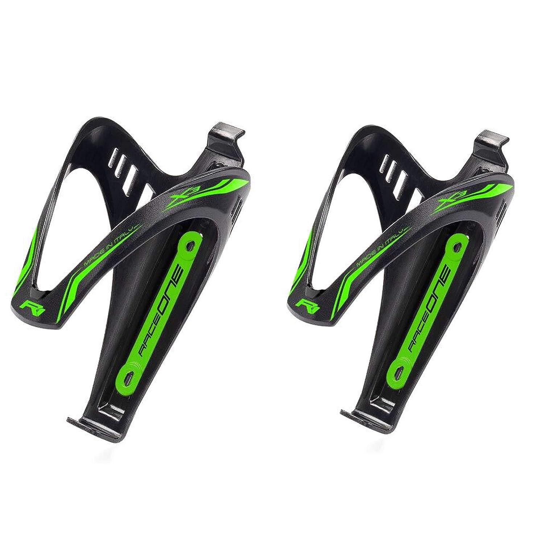 100/% Acabado Mate RaceOne.it PAR portabid/ón X3/Green Fluorescente de Botella para Bicicleta Ideal para Bicicleta Race Cristal//Senderismo Bike Color Negro//Verde fl/úor RO 2/X 3//_ gfl