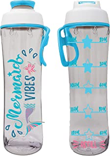 product image for 50 Strong BPA-free Water Bottle for Kids with Time Markers, Chug Cap and Carry Loop, 24 Ounces