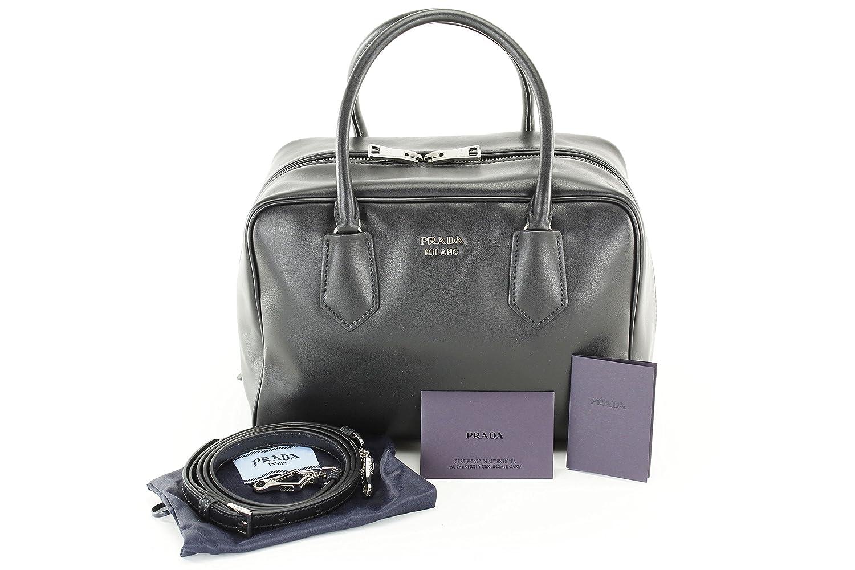 discount prada mens printed nylon tote bag black blue 7fe9e 9dfb1  clearance  prada womens soft calf inside tote black blue leather handbags amazon fcb55  ... ed959009ef4a8