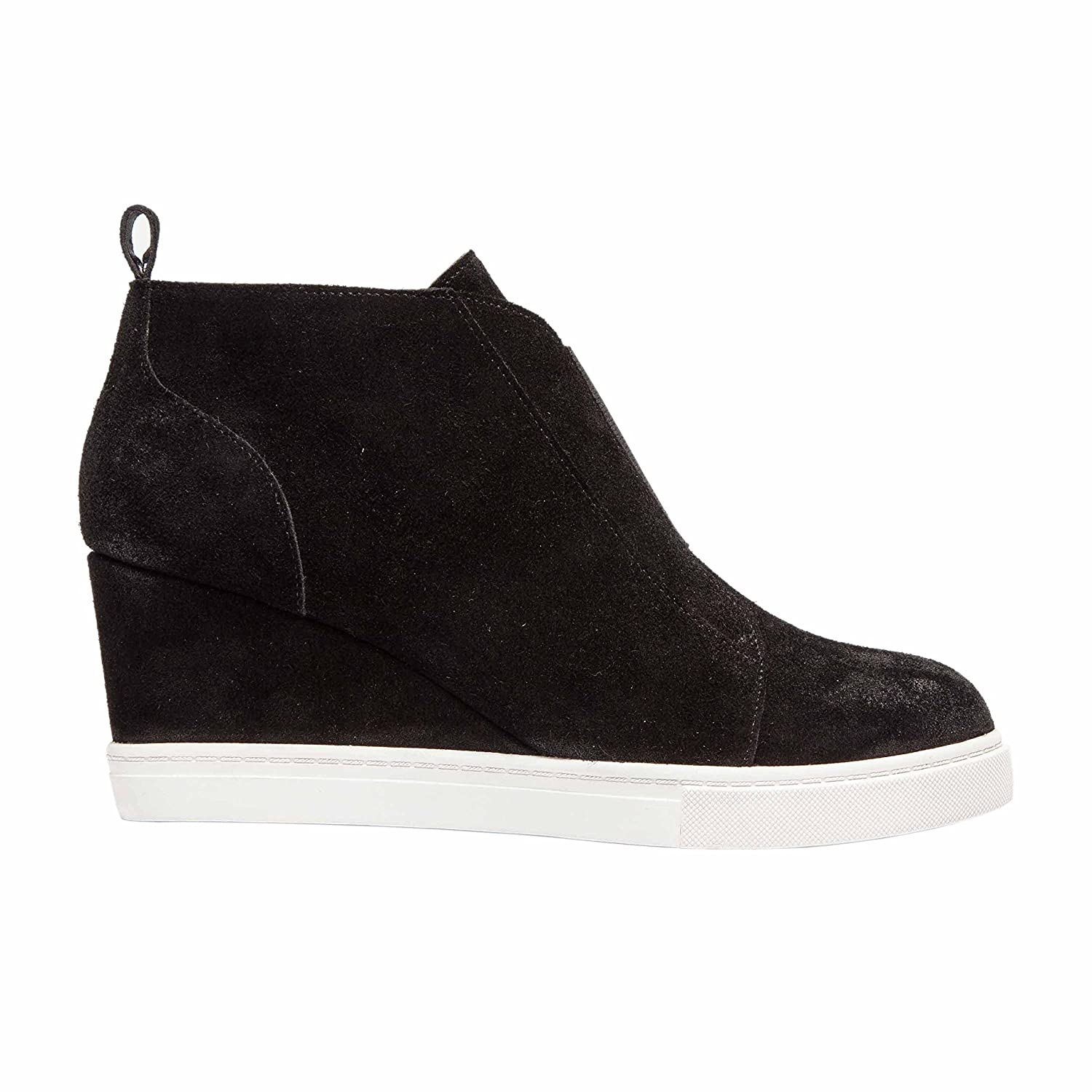 Felicia | Women's Platform Wedge Bootie Sneaker Leather Or Suede B074N9SWCK 10.5 M US|Black Split Suede