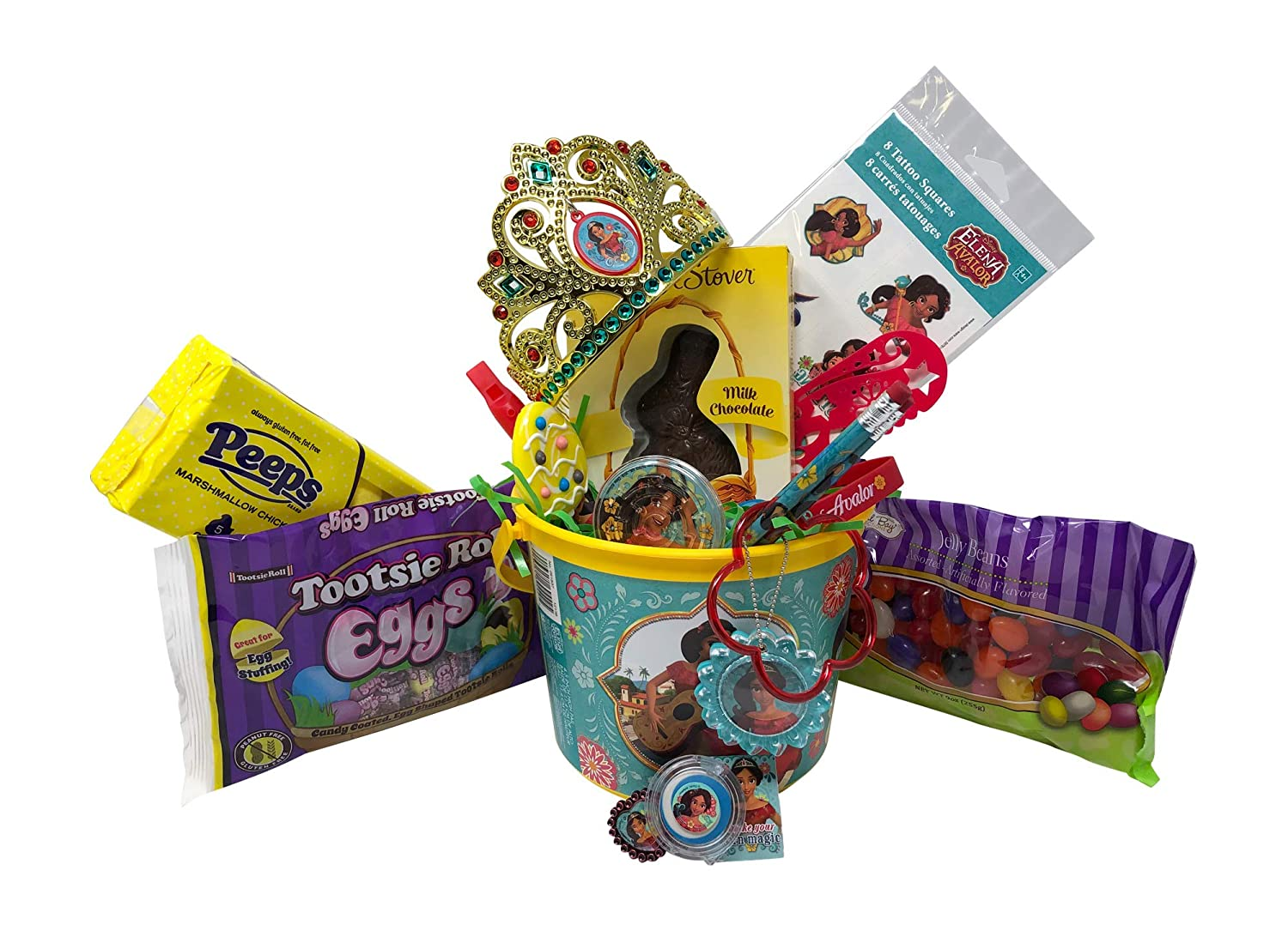 Boys and Girls Construction Equipment Easter Basket Pre Filled with Easter Candy Easter Toys and Easter Basket Grass Easter Basket Filler Great for Kids