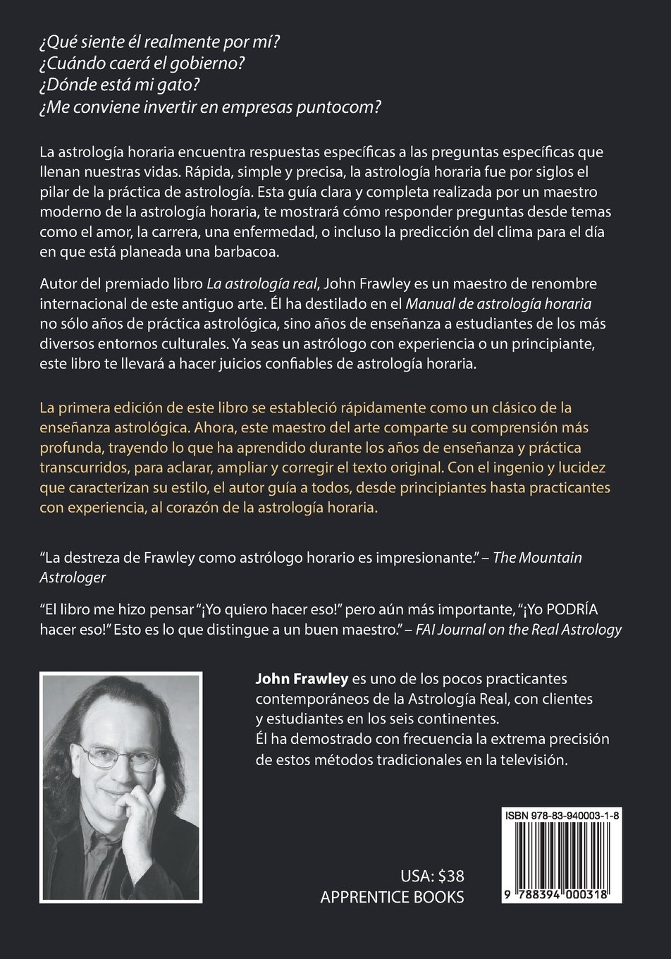Manual de Astrología Horaria - Versión extendida (Spanish Edition): John Frawley, Leah Cuperman, Javier Güelfi: 9788394000318: Amazon.com: Books