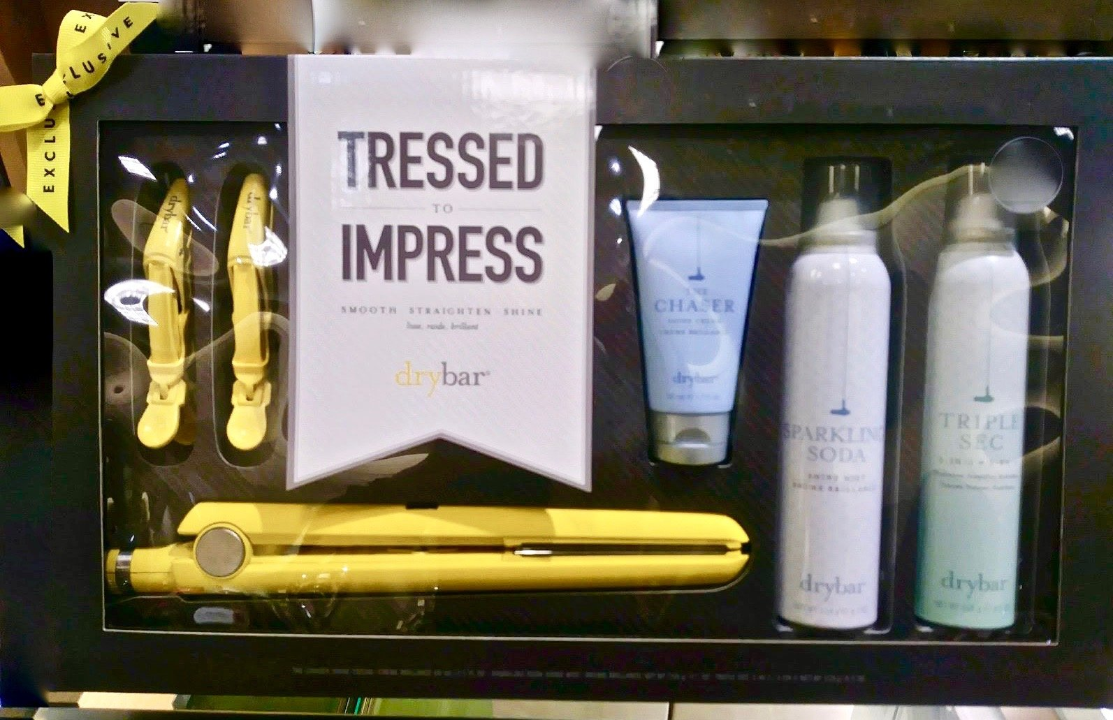 Drybar Tressed To Impress Hair Styling Set - Tress Press, Sparkling Soda, Triple Sec, Hold Me Clips and Chaser