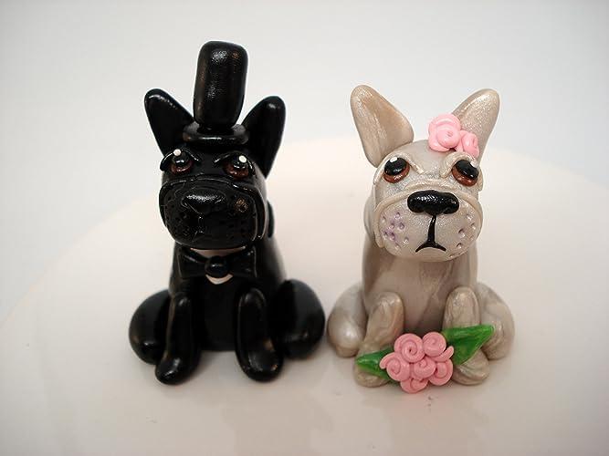 French Bulldog Wedding Cake Topper