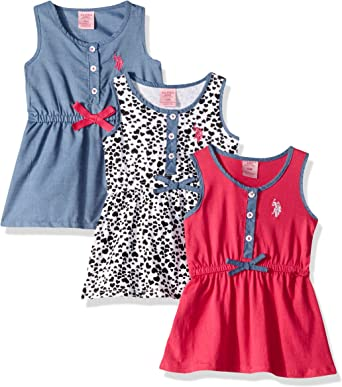 Polo Assn Baby Girls Multi Pack Dress Dress U.S