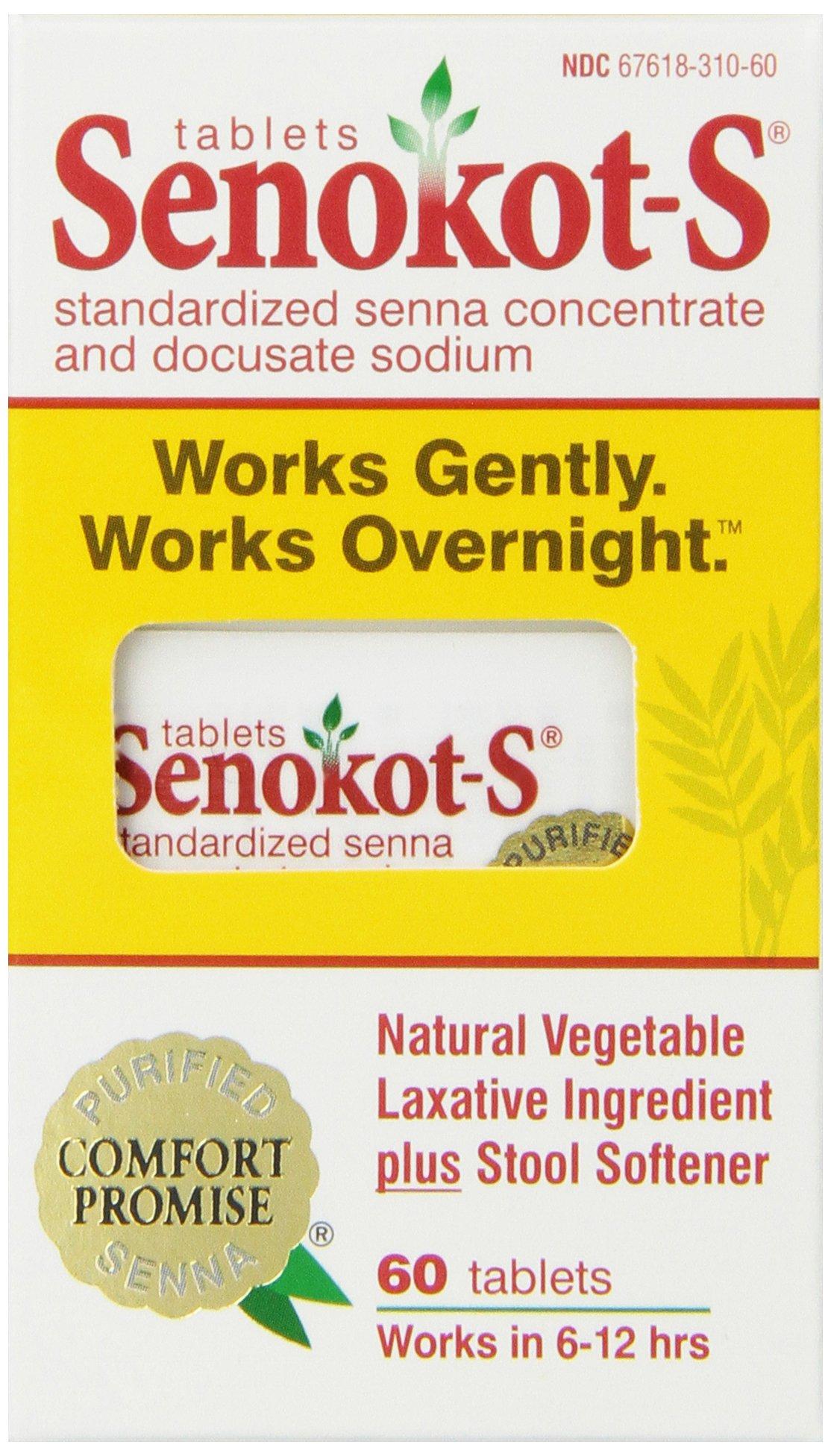 Senokot S Natural Vegetable Laxative Ingredient Plus Stool