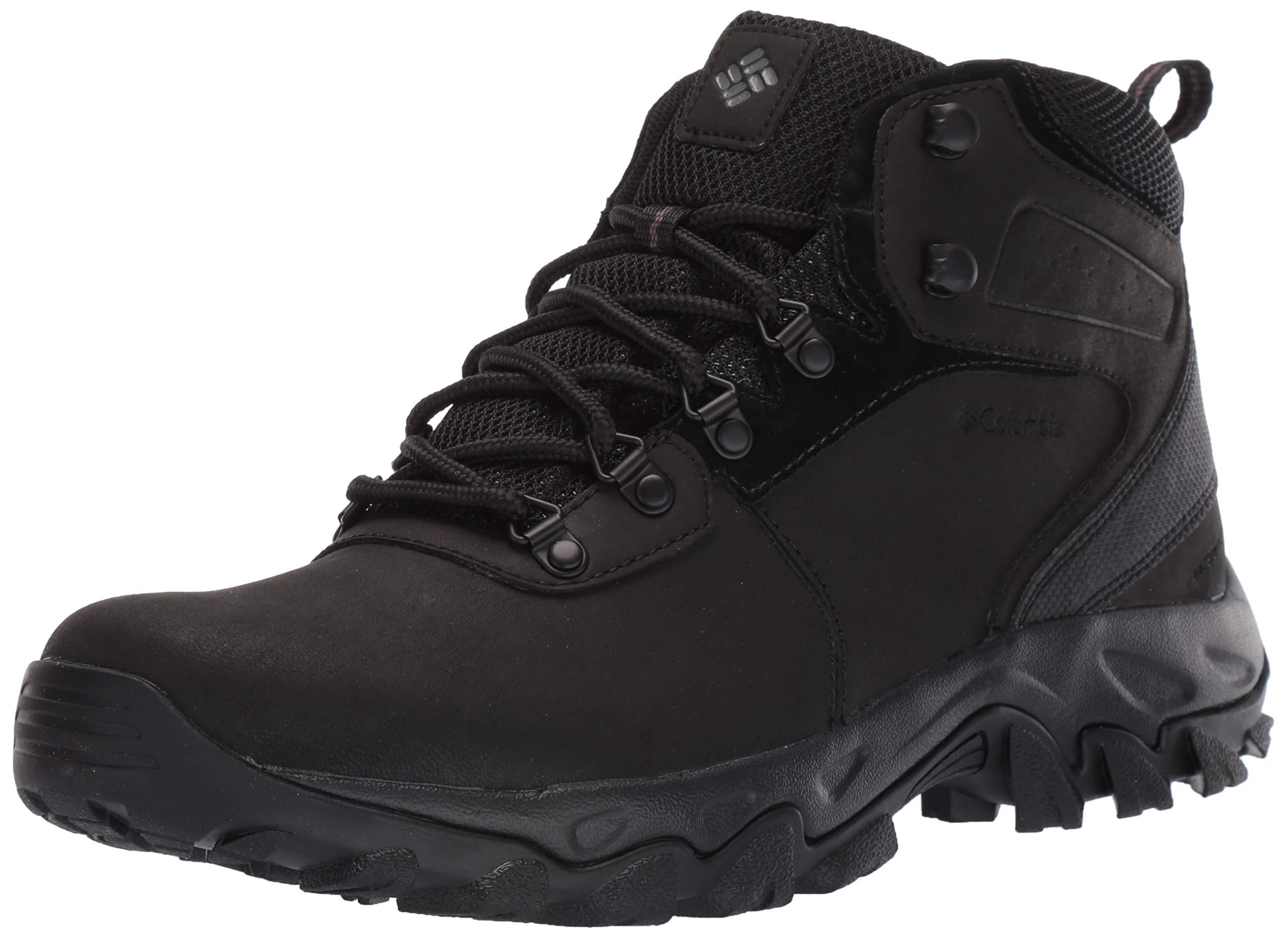 Columbia Men's Newton Ridge Plus II Waterproof Hiking Boot Black, 7 Regular US