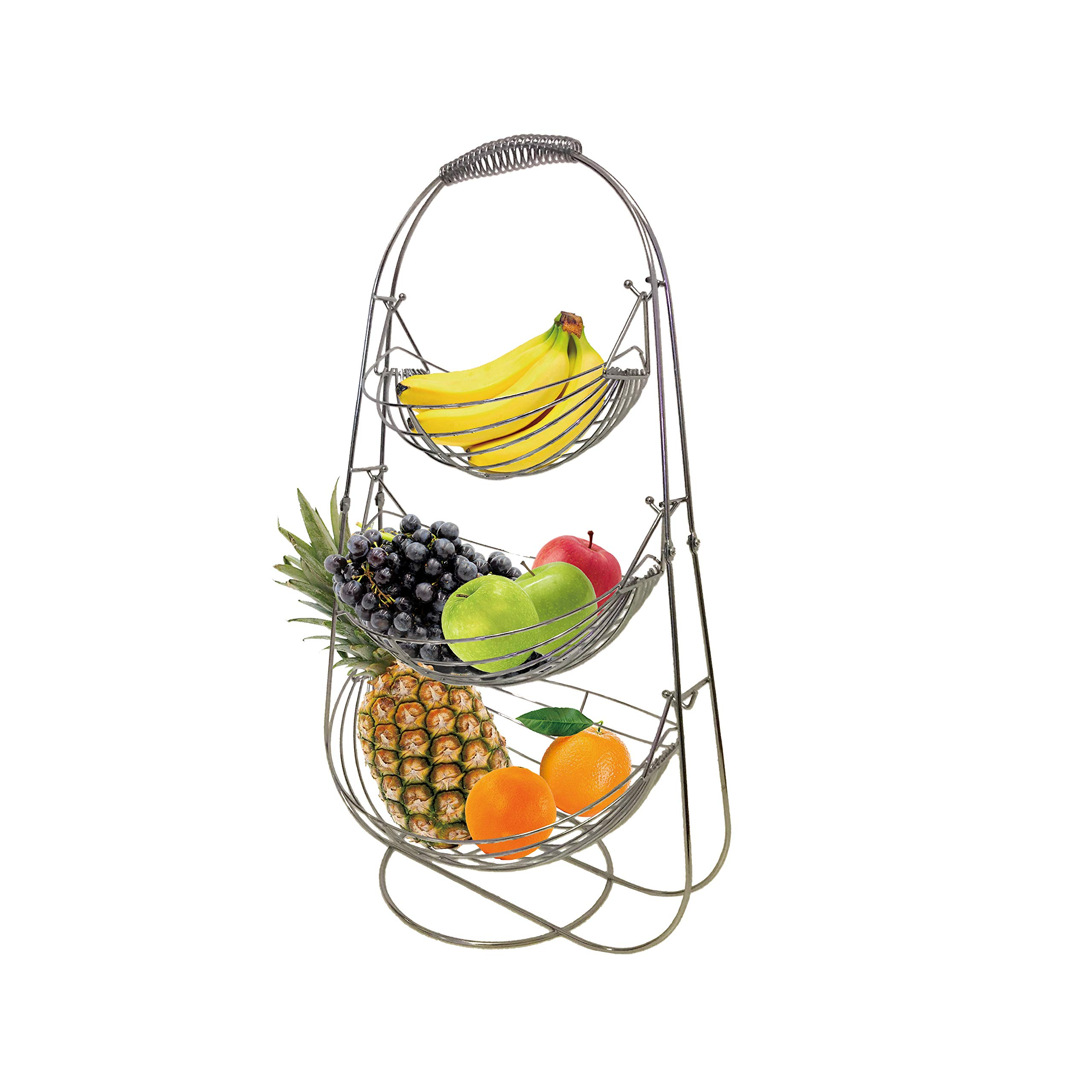 WhaleCreation 3-Tier Large Stainless Steel Fruit Vegetables Basket