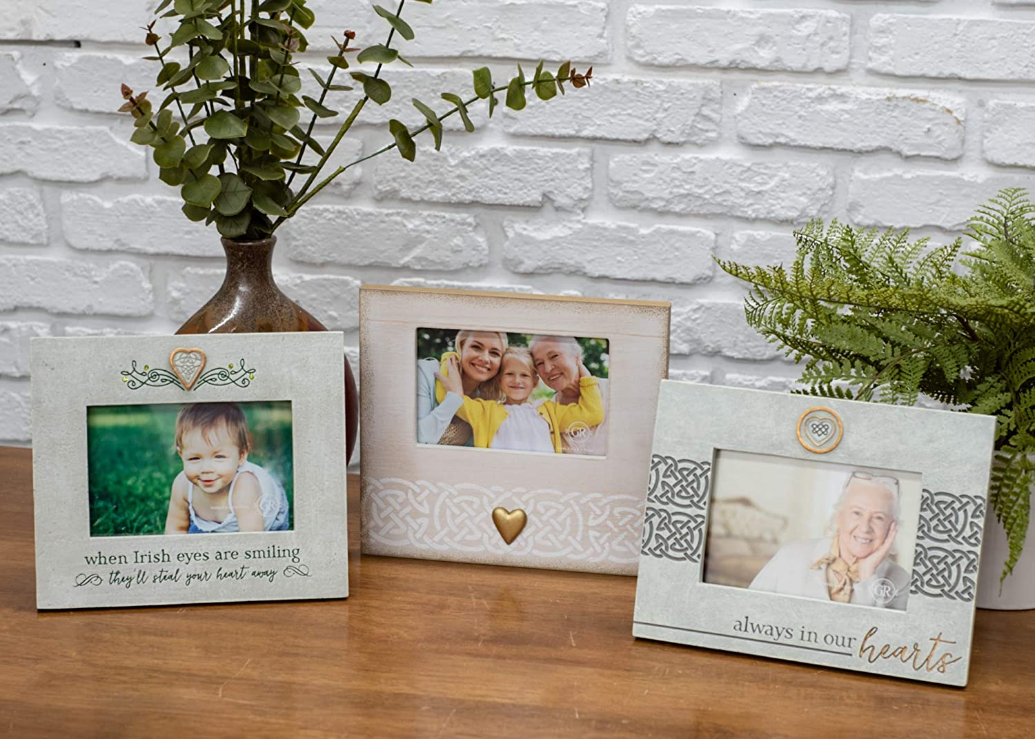 Memorial Picture Frame  4x4 photo Grasslands Road Always in My Heart Frame