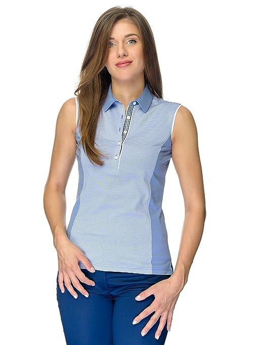 JELFY Ariadna Golf Mujer Polo sin Mangas 100% Pima de algodón ...