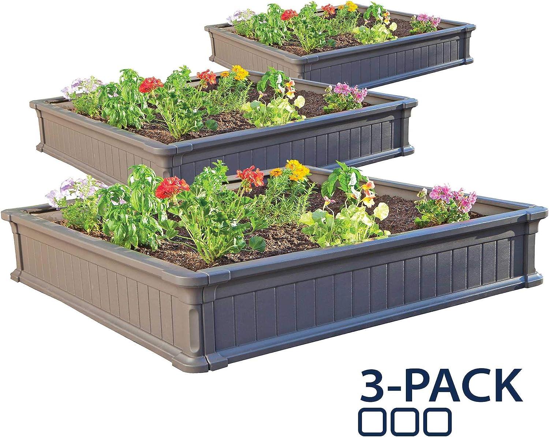 Amazon Com Lifetime 60069 Raised Garden Bed Kit 4 By 4 Feet