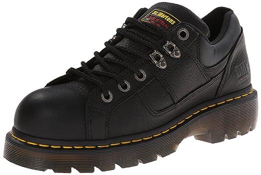 Dr. Martens Gunby Punta de ACERO Zapatos, Negro (Negro), 12 F(M) UK
