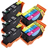 Generic  5 Pack (3 Black & 2 Color) Compatible Hi-Yield Ink Cartridge for Dell Series 21 22 23 24 P513w P713w V313 V715w v515w Sold By INKTONER