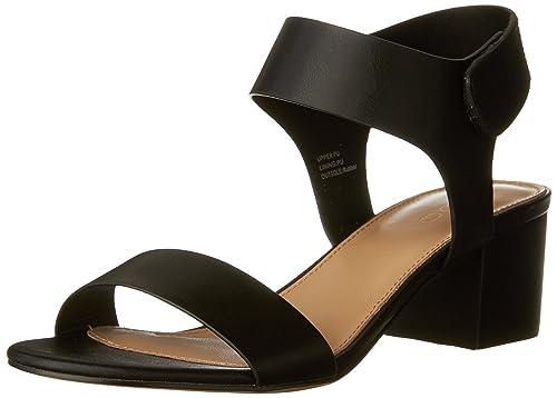 Aldo Women's EVONNA Heeled Sandal, Black Synthetic, ...