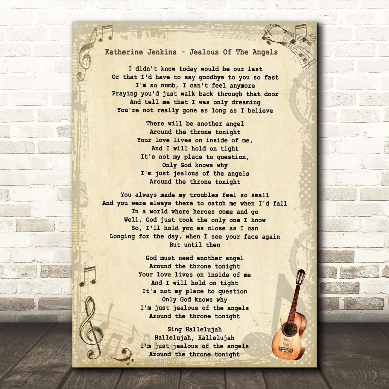 Katherine Jenkins Jealous of The Angels - Guitarra con cita de ...
