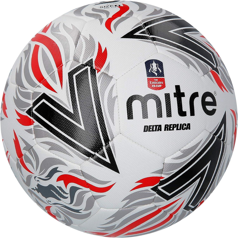 Mitre Delta Replica FA Cup Balón de fútbol, Unisex Adulto: Amazon ...