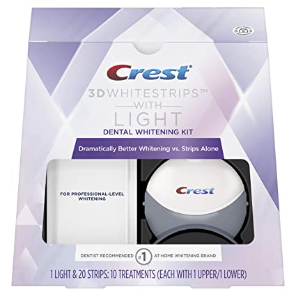 Amazon Com Crest 3d White Whitestrips With Light Teeth Whitening
