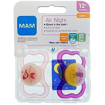 Amazon.com: Mam Air - Chupete nocturno de látex, 2 unidades ...