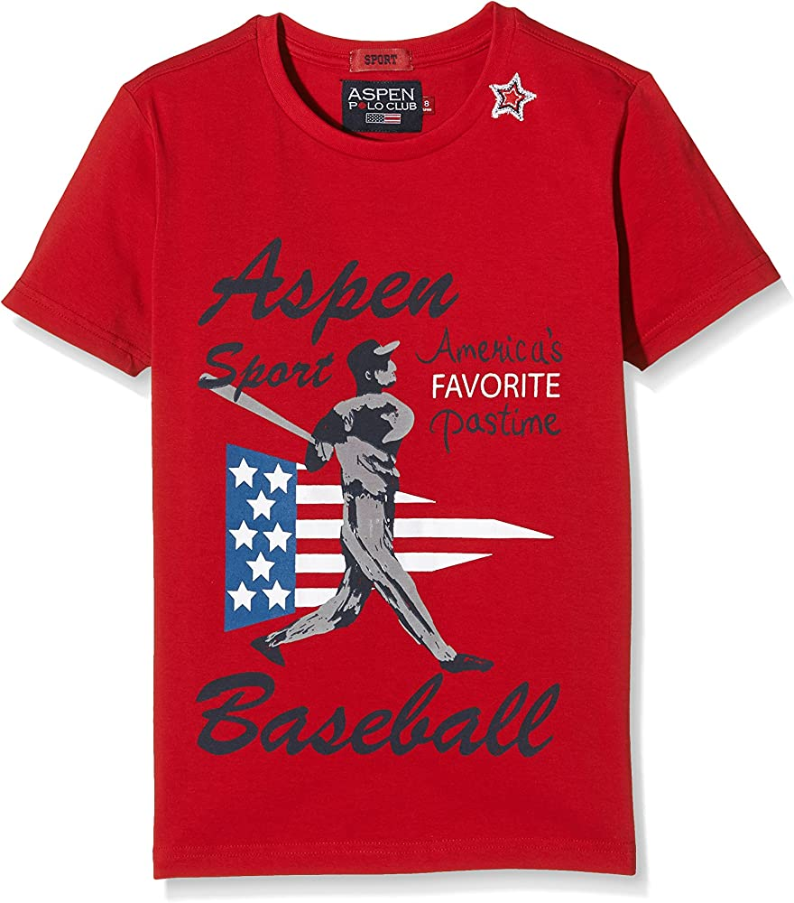 Aspen Polo Club Camiseta Manga Corta Rojo 8 años (128 cm): Amazon ...