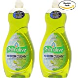 Palmolive Ultra Dish Residue Free Clean Liquid, Fusion Clean, Baking Soda and Lime, 20 Ounce Twin Pack, (20 Oz x 2, Total 40 Oz)