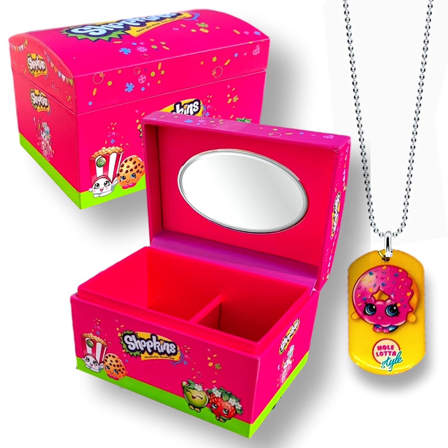 Amazon 595 Shopkins Mini Jewelry Box and Shopkins Necklace qpanion