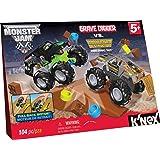 K'NEX Monster Jam Grave Digger versus Maximum Destruction Set