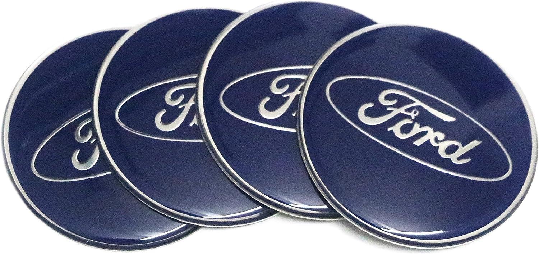 4 emblemas de 65 mm para el centro de la rueda de coche adhesivo para Ford