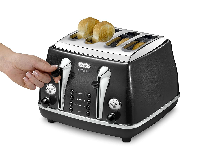 DeLonghi CTOM 4003BK Micalite 4 Slice Toaster