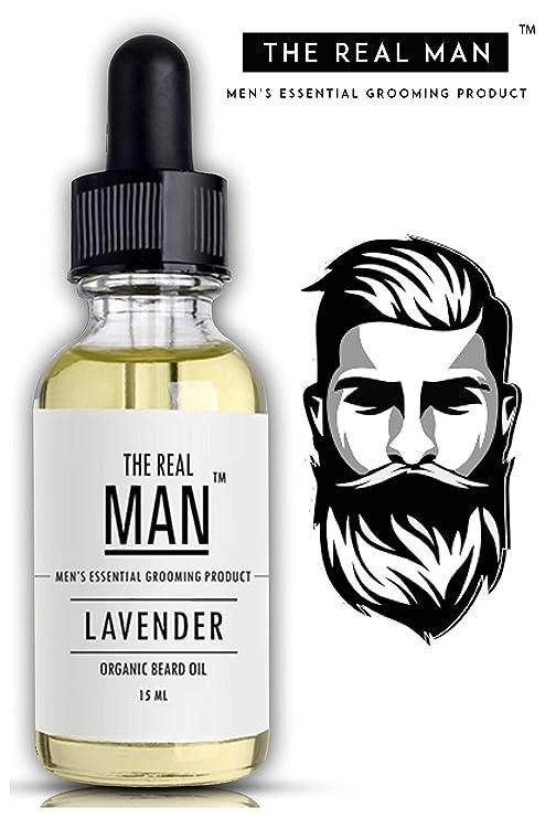 Barba & ----Aceite de bigote lavanda para crecimiento del cabello con aceite
