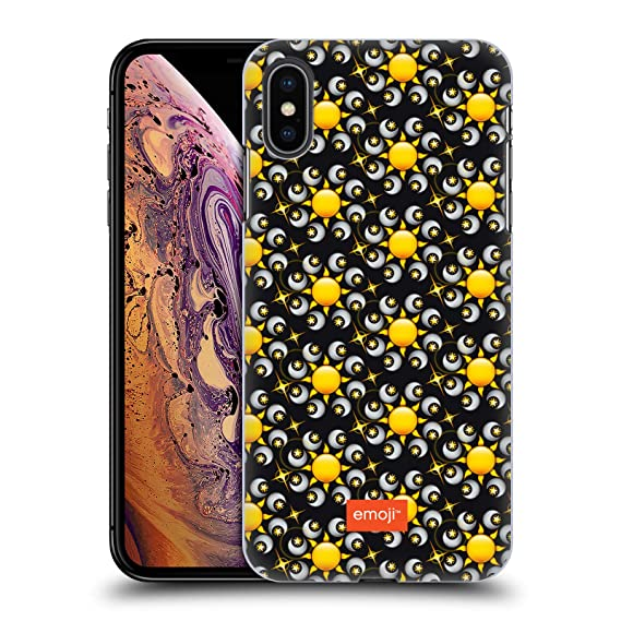 new style a59ec 3fd42 Amazon.com: Official Emoji Moon and Sun Floral Patterns Hard Back ...