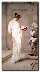 Wall Decor Victorian Lady with Flowers Henry Thomas Schafer Divinely Fair Victorian Art Print Poster (16x20)