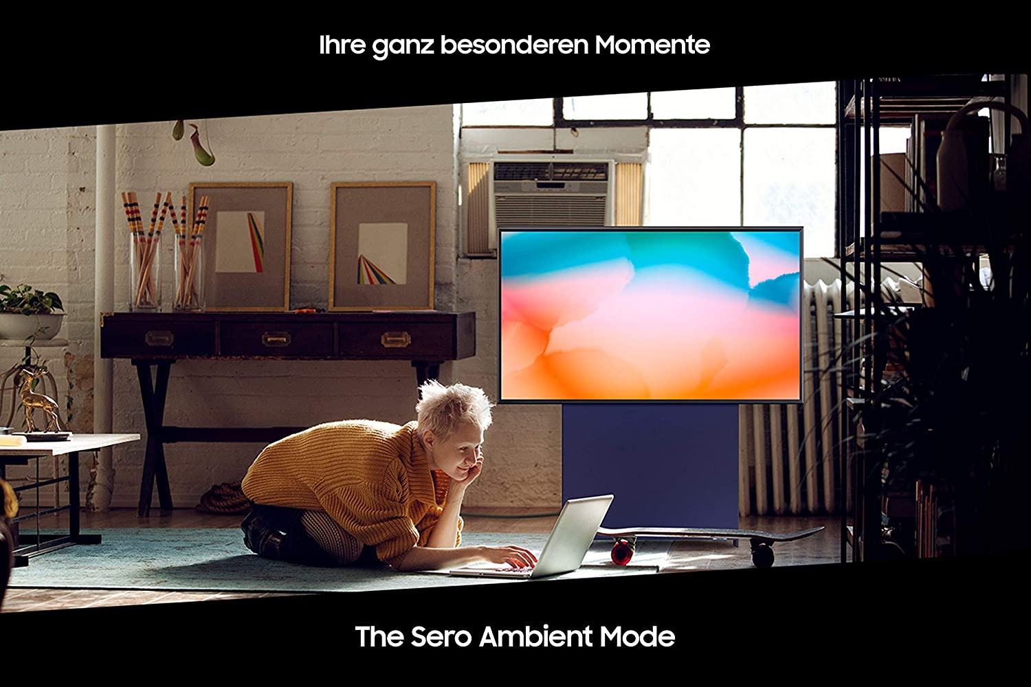 Samsung Qled 4k The Sero 43 Inch Rotating Screen 4 1 Channel Sound System Ai Upscaling Home Cinema Tv Video