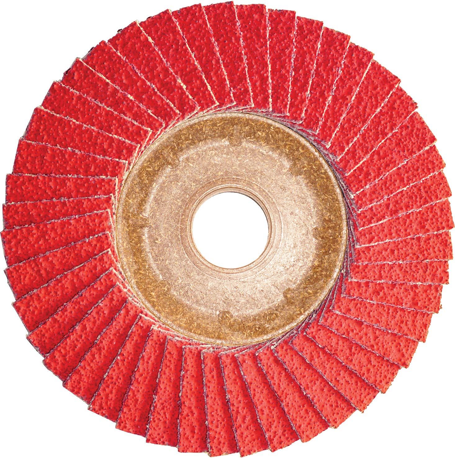 CS Unitec 93551 PLANTEX Ceramic High Performance Flap Disc for Hard to Grind Metals, 4-1/2'' Diameter, 7/8'' Arbor, 60 Grit (Pack of 30)