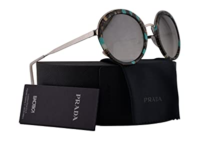 6ea66aa7b644 Image Unavailable. Image not available for. Color  Prada PR50TS Sunglasses Striped  Grey Green ...