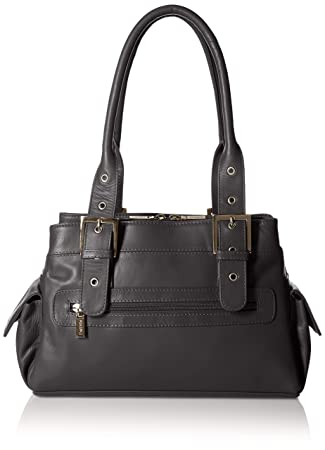 Visconti Sophia Leather Handbag Ladies Top Handle Shoulder Bag, Black 67c2e58b90
