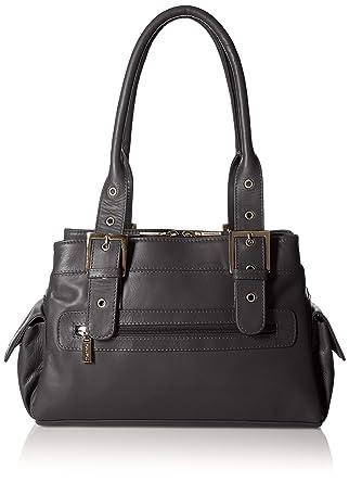 Amazon.com: Visconti Sophia Leather Handbag Ladies Top Handle ...