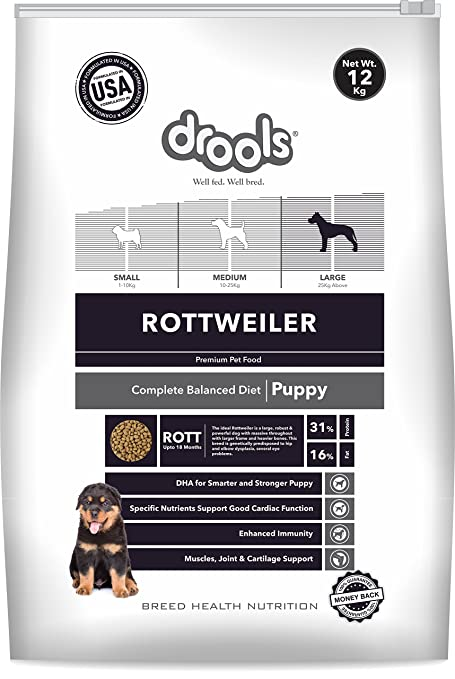 Buy Drools Rottweiler Puppy Premium Dog Food 12 Kg Online At Low