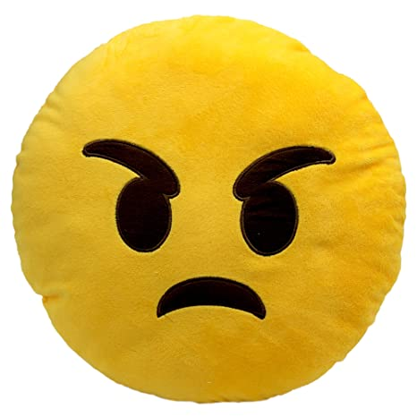 Buy Angry Face Emoji Primecuts Premium Quality Big 35cm Angry Face