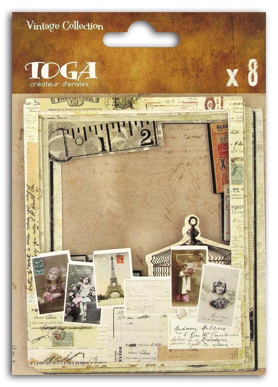 9/x 11/x 0,5/cm cart/ón Beige /Juego de 8/Marcos Polaroid Toga Vintage/