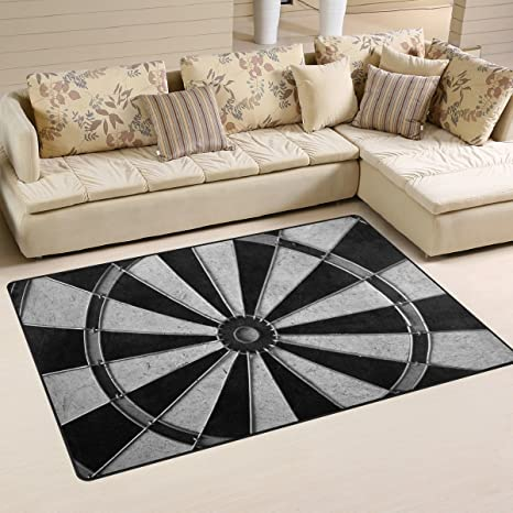 Amazon Com Deyya Non Slip Area Rugs Home Decor Game Darts Board