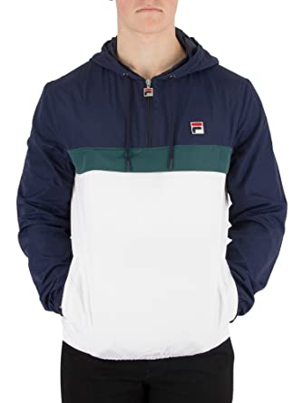 bd1ca4f1159 Fila Vintage Men's Cipolla 1/2 Zip Pullover Jacket, White, XXX-Large ...