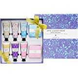 Spa Luxetique Premium Shea Butter Hand Cream Gift Set, Natural Bar Soap Gift Set for Women, 6pc Nourishing Hand Cream for Dry Cracked Hands, 2pc Moisturizing Soap Bar for Hand, Body, Face Soap.