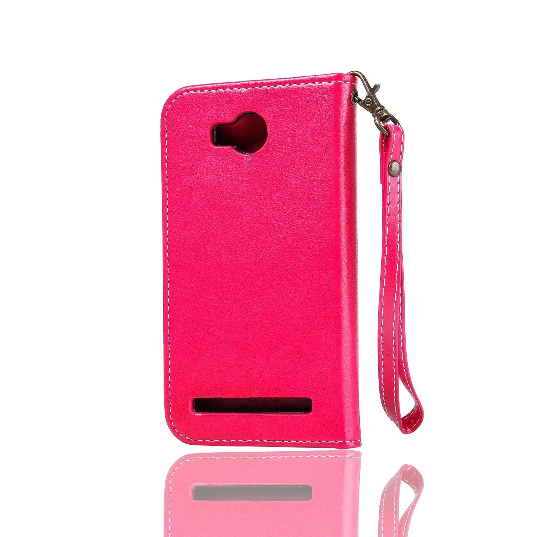 Magnetverschluss Grandoin H/ülle f/ür Huawei Y5 Ⅱ St/änder Kartenfach PU Leder Etui Flip Cover Book Case Pr/ägung Muster Schutzh/ülle Handytasche Handyh/ülle Gr/ün